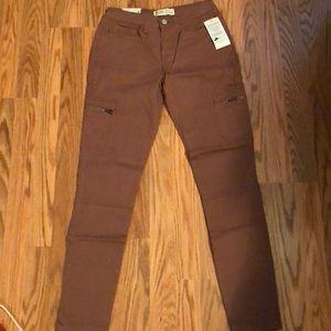 Light pink cargo zip jeans